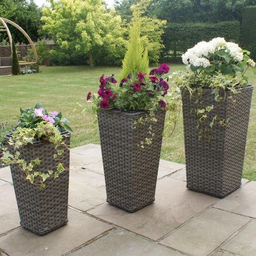 Victoria Planters Tall / Grey