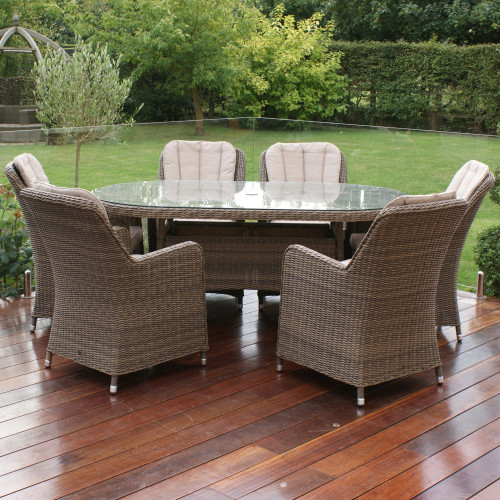 Winchester 6 Seat Oval Dining Set with Venice Chairs