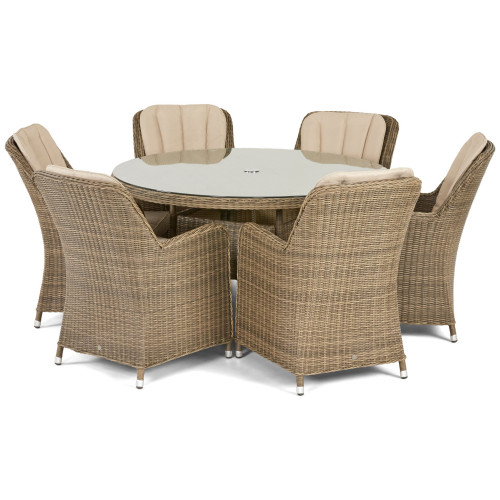 Winchester 6 Seat Round Dining Set with Venice Chairs