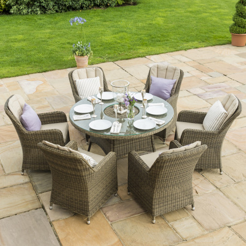 Winchester 6 Seat Round Ice Bucket D/set with Venice Chairs LS