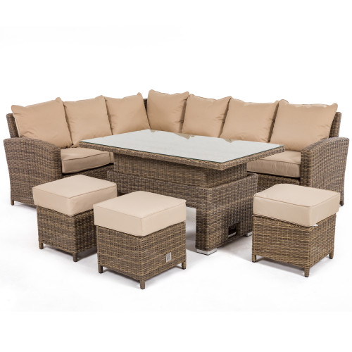 Winchester Kingston Corner Dining Set with Rising Table