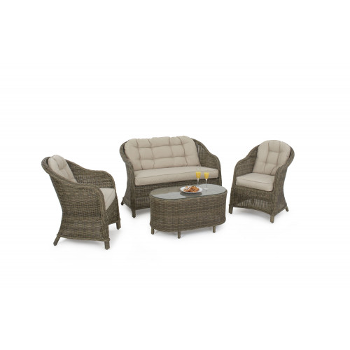 Winchester Heritage Rounded Sofa Set