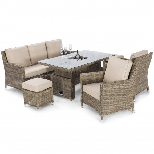 Winchester Sofa Dining Set with Ice Bucket & Rising Table