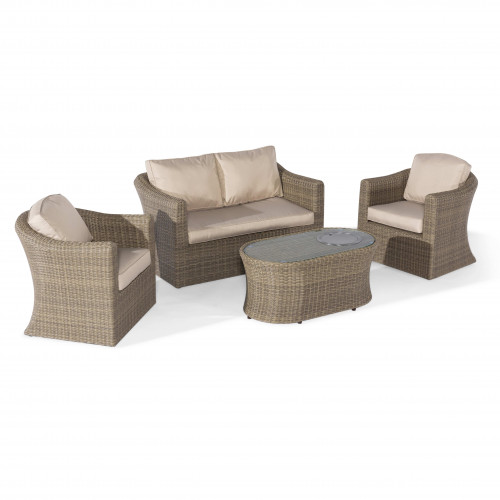 Winchester 2 Seat Sofa Set with Fire Pit Coffee Table