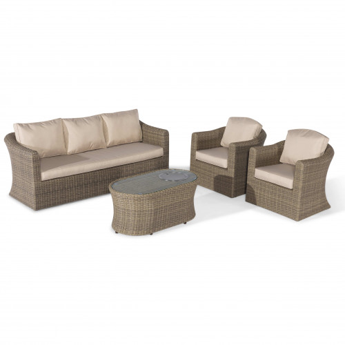Winchester 3 Seat Sofa Set with Fire Pit Coffee Table