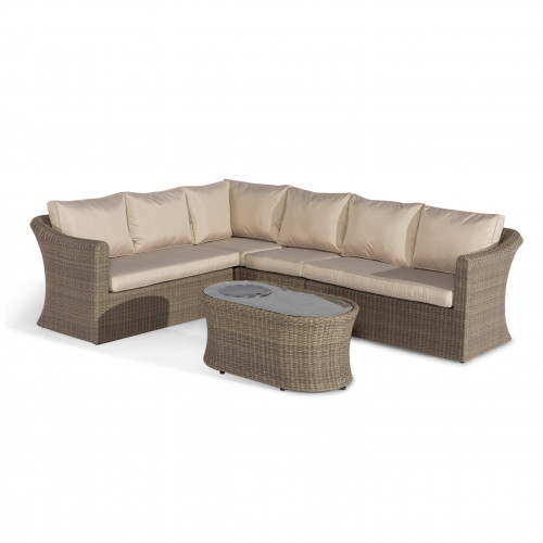 Winchester Large Corner Sofa Set with Fire Pit Table