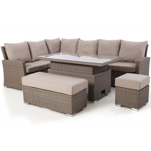 Harrogate Rectangular Corner Dining Set with Rising Table