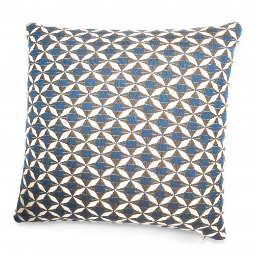 Fabric Scatter Cushion / Mosaic Blue