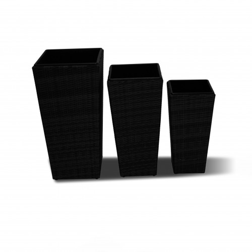 Planters Set Tall / Black