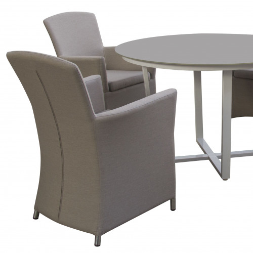 Soul 4 Seat Round Dining Set / Taupe
