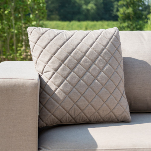Fabric Scatter Cushion Quilted (Pack of 2) / Taupe