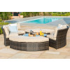 Chelsea Lifestyle Suite with Glass Table / Brown