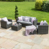 Georgia 3 Seat Sofa Set with Ice Bucket / Grey