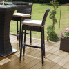4 Seat Square Bar Set with Ice Bucket / Brown